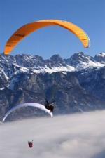 Paragliding Fluggebiet Europa » Schweiz » St. Gallen,Flumserberg-Maschgenkamm-Prodkamm-Leist,Die Flumser-Bahnen sind uns Gleitschirmfliegern sehr wohl gesonnen...