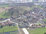 Paragliding Fluggebiet Europa » Österreich » Tirol,Seegrube,Im Bild unten links ist ein Teil des Landeplatzes oberhalb der Ortschaft Arzl zu sehen. Anflugregeln beachten (siehe Homepage Innsbrucker Gleitschirmfliegerverein)