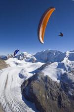 Paragliding Fluggebiet Europa » Schweiz » Graubünden,Diavolezza - Piz Palü (alpiner Startplatz),mit freundlicher Bewilligung ©www.azoom.ch