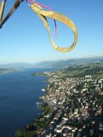 Paragliding Fluggebiet ,,Blick weg von Zürich