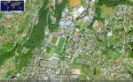 Paragliding Fluggebiet ,,Google-Blick auf den damaligen Landeplatz. Das landen im kleinen eingezäunten LIDO war nie offiziell