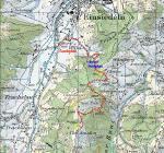 Paragliding Fluggebiet Europa » Schweiz » Schwyz,Tritt,Wanderweg mit Landeplatz und Startplätze. Oberer Parkplatz in der Mitte