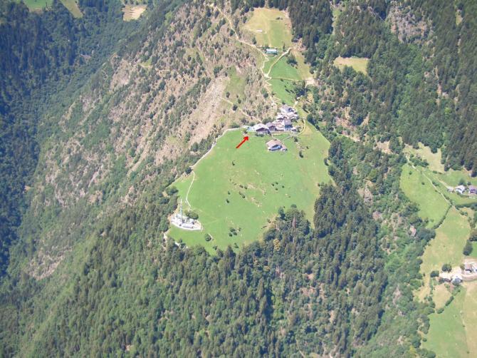 Startplatz Bergstation Hochmuth (Juli 2007)