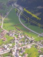 Paragliding Fluggebiet ,,Landeplatz östlich von Schiers; knapp 15min zu Fuss zum Bahnhof/ Parkplatz/ Bus