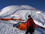 Paragliding Fluggebiet Europa » Schweiz » Schwyz,Klingenstock,Blick vom Startplatz zurück zum Gipfel