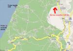 Paragliding Fluggebiet ,,Karte zu den Praias