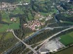 Paragliding Fluggebiet Europa » Schweiz » Graubünden,Präzer Alp Präzer Höhi,Blick auf Fürstenaubruck, Hier fliesst die Albula in den Hinterrhein (15.09.07)