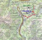 Paragliding Fluggebiet Europa » Schweiz » Tessin,Cima di Medeglia,Skizze der Startplätze (Volo libero Ticino)