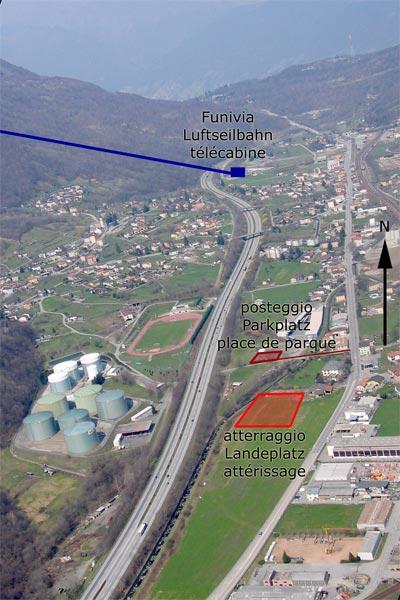 Landeplatz in Bironico (Volo libero Ticino)