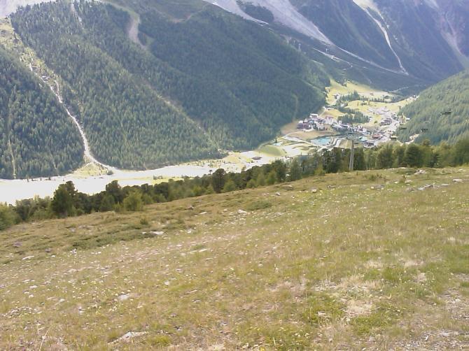 Blick vom Startplatz ins Tal