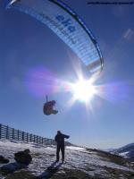 Paragliding Fluggebiet Europa » Österreich » Salzburg,Aineck,Startplatz Aineck im Winter