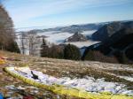 Paragliding Fluggebiet Europa » Österreich » Oberösterreich,Schoberstein,Startplatz auf der Südostseite