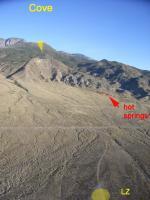 Paragliding Fluggebiet Nordamerika » USA » Utah,Cove,Blick von Lande- zum Startplatz