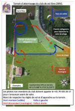Paragliding Fluggebiet ,,LZ Info © Dents du Midi Vol Libre