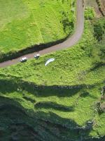 Paragliding Fluggebiet Europa » Portugal » Madeira,Santa,der Startplatz Santa/Madeira, leichter kommt man wohl kaum zum Startplatz