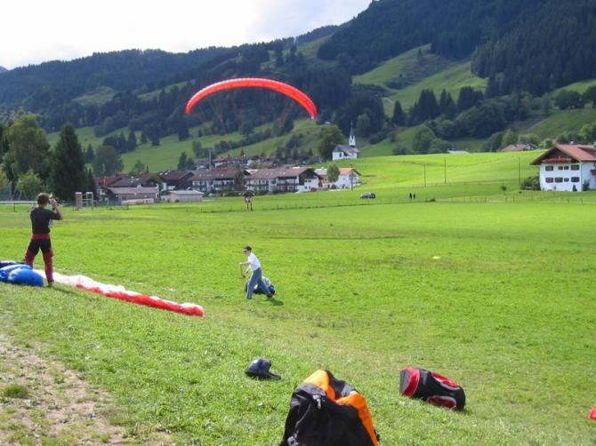 Landeplatz am Kitzebichl. Minigolfplatz