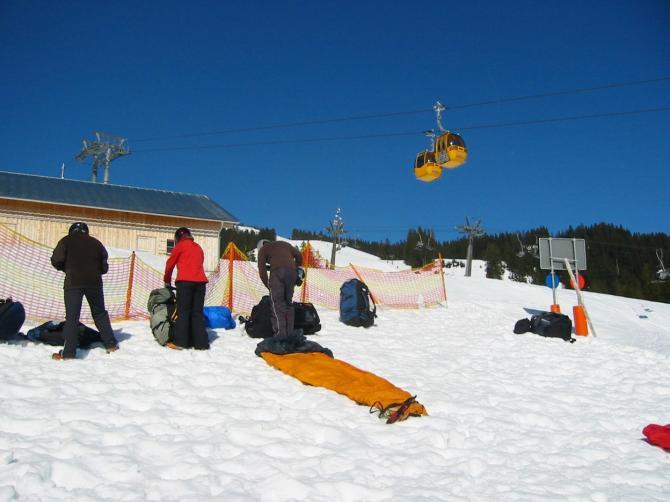 Startplatz Ornach im Winter. Perfekte Startbedingungen.