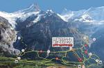 Paragliding Fluggebiet Europa » Schweiz » Bern,Pfingstegg,Situation Pfingstegg von First aus gesehen