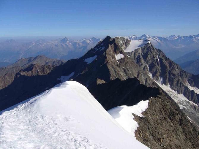 Weissmiesgipfel mit Blick nach Norden auf das Lagginhorn