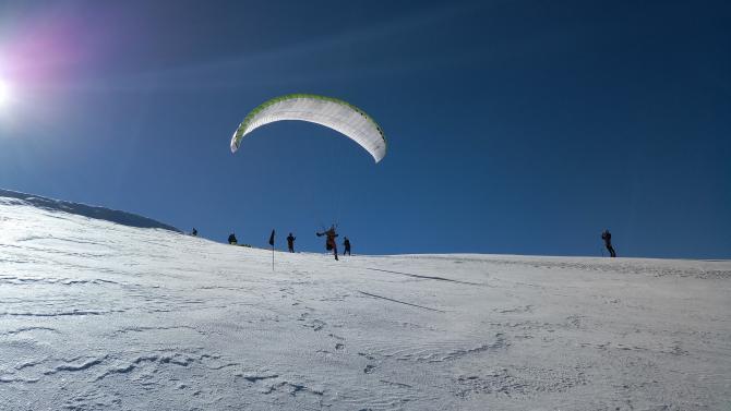 Start direkt am Gipfel des Weissmies in Richtung Westen am 20.08.2020