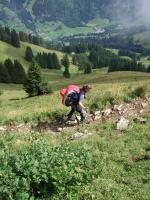 Paragliding Fluggebiet Europa » Schweiz » Bern,Gehrihorn,Aufstiegsweg aus dem Kiental, bzw. von Ramslauenen aus