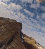 Paragliding Fluggebiet ,,Kleines Schiahorn im Vordergrund (mit Bartgeier), dahinter das grosse Schiahorn.