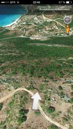 Paragliding Fluggebiet ,,Startplatz  mit Sicht auf Mesina Plage