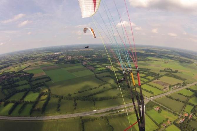 Thermikflug - gemeinsam aufdrehen