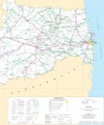 Paragliding Fluggebiet Südamerika » Brasilien,TACIMA,Transport Infrastruktur Railways, Hauptverbindungen.  Tacima ist zuoberst mittig G: redefederal.drf.com.br