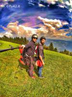 Paragliding Fluggebiet Europa » Italien » Trentino-Südtirol,Vigiljoch,Am Startplatz Vigiljoch, Blick Richtung Osten.