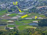 Paragliding Fluggebiet Asien » Japan,Mt.Kura,LZ, P, Meeting Point