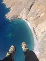 Paragliding Fluggebiet Europa » Griechenland » Inseln,Kreta (White Mountains - Levka Ori) Gipfel: Thodori Korfí,Wieder der Sweetwater-Beach - an dem es übrigens eine schnucklige, kleine Taverne gibt, von einer sehr netten Familie betrieben...