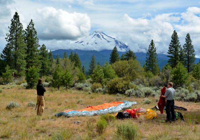 Blick vom LP zum Mount Sashta