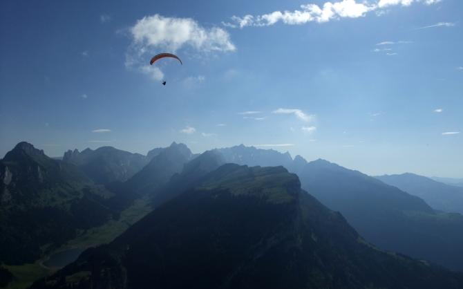 Vom hohen Kasten in Richtung Alp Sigel.