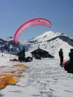 Paragliding Fluggebiet Europa » Schweiz » Appenzell Innerrhoden,Ebenalp,Toplanden am NW-Start; April 03 (?)