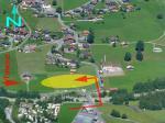 Paragliding Fluggebiet Europa » Schweiz » Bern,Grindelwald First - Pfingstegg - Waldspitz,LZ 'Grund': bei mässig bis starkem Talwind den Queranflug NICHT östlich (dh. hinter) der Strasse machen!