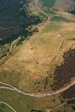 Paragliding Fluggebiet Europa » Frankreich » Elsass,Treh Markstein,grösser kann ein Startplatz kaum sein; Toplanden problemlos