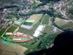 Paragliding Fluggebiet Europa » Frankreich » Elsass,Treh Markstein,Am Ortsende Fellering rechts ab den Hinweisschildern AEROTEC folgen. Hier ist der Campingplatz (Rand Landewiese)noch in Betrieb(2004). 2005 war er geschlossen und abgeräumt , mal sehen was 2006 bringt.