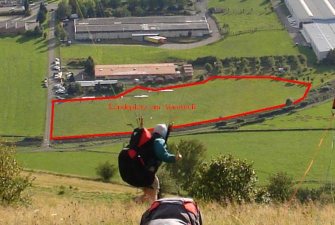 Landeplatz vom Treh und Siebach. Gesehen vom Siebach