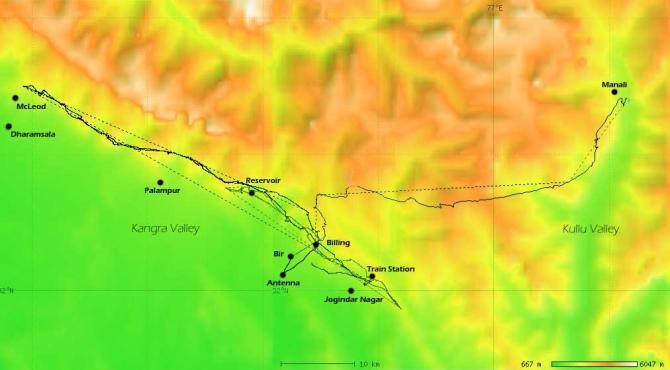 Reiselandkarte