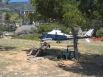 Paragliding Reise Bericht Europa Italien Ligurien,Ospedaletti,Leider war der Landplatz belegt somit war an Fliegen nicht zu denken.