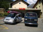 Paragliding Reise Bericht Europa Italien Trentino-Südtirol,Rundreise durch die Alpen,Fahzeuge bereit in Fiesch