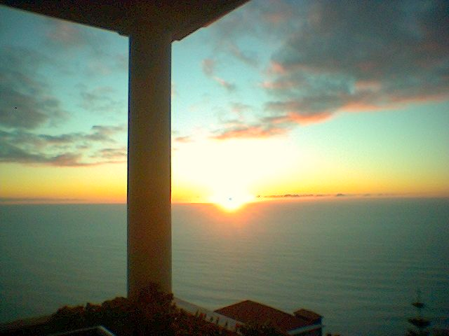 Jardim Atalntico Sonnenuntergang aus dem Hotelzimmer :-)