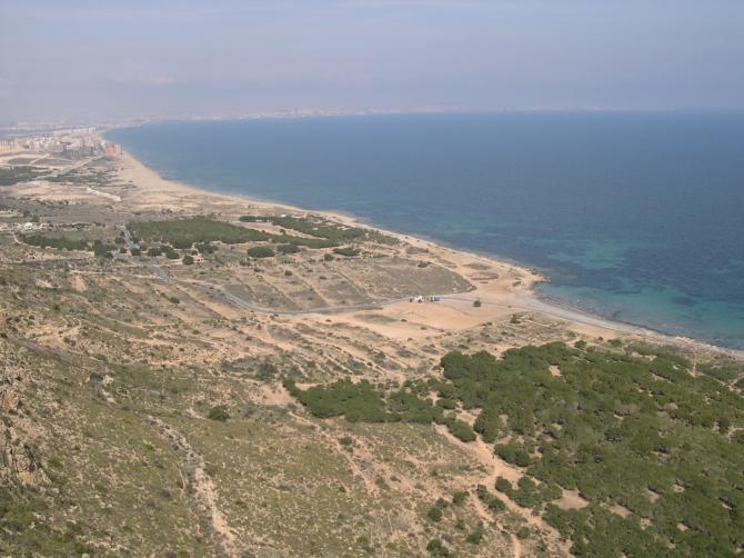 Blick aus dem Gleitschirm beim Küstensoaren in Santa Pola!