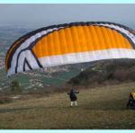 Paragliding Reise Bericht Europa » Italien » Venetien,Bassano,Andreas beim Start