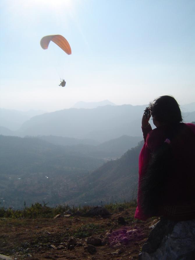 Flug in Bandipur, zwischen Pokhara und Kathmandu